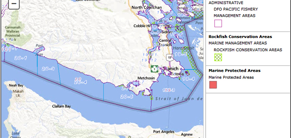 Coyote bank halibut fishing map for How much is a fishing license in washington